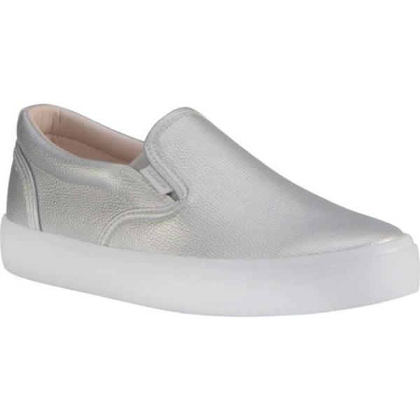 ラグズ レディース スニーカー シューズ Clipper LX Slip On Sneaker Silver/White Synthetic Leather
