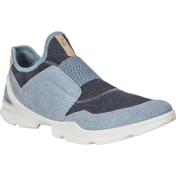 エコー レディース スニーカー シューズ BIOM Street Strap Sneaker Dusty Blue/Marine Leather/Textile