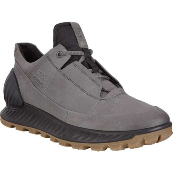 エコー メンズ スニーカー シューズ Exostrike Low GORE-TEX Outdoor Sneaker Dark Shadow Leather