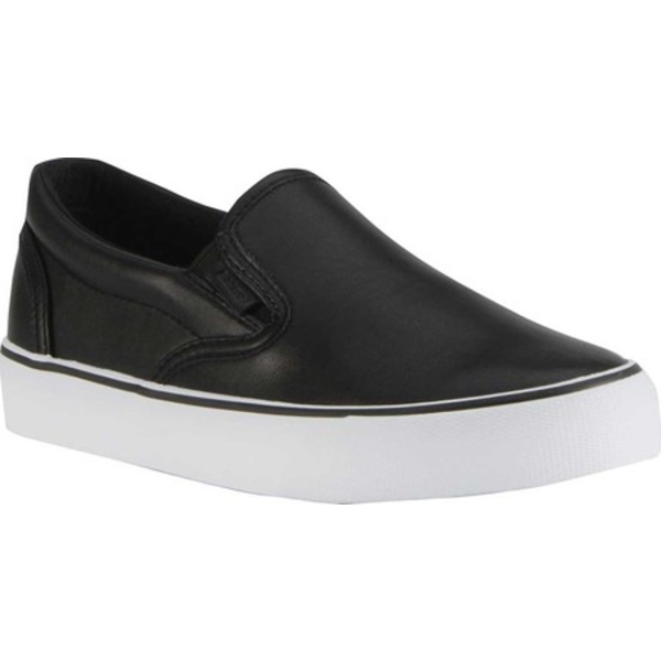 ラグズ レディース スニーカー シューズ Clipper LX Slip On Sneaker Black/White Synthetic Leather