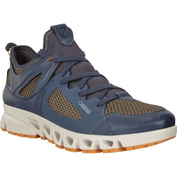 エコー メンズ ブーツ&レインブーツ シューズ Omni-Vent Air GORE-TEX SURROUND Outdoor Sneaker Marine/Dark Clay/Pumpkin Leather/Textile