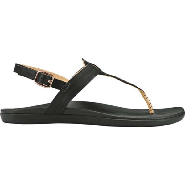 オルカイ レディース サンダル シューズ Ekekeu Thong Sandal Black/Black Full Grain Leather