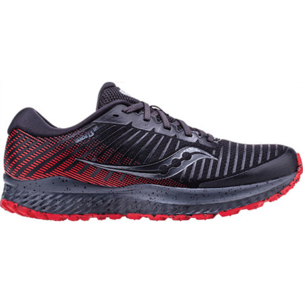 サッカニー メンズ スニーカー シューズ Guide 13 TR Trail Running Shoe Black/Red Engineered Mesh