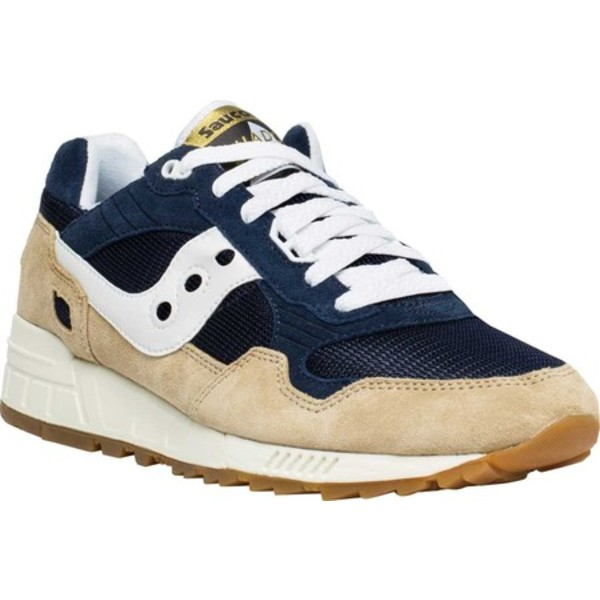 サッカニー メンズ スニーカー シューズ Shadow 5000 Vintage Sneaker Tan/Navy/White Suede/Nylon