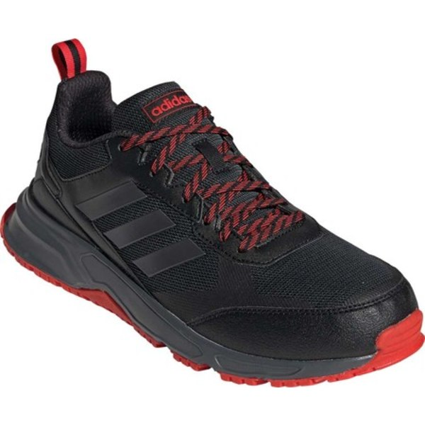アディダス メンズ スニーカー シューズ Rockadia Trail 3.0 Running Shoe Black/Night Metal/Grey