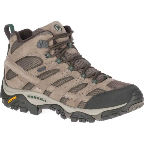 メレル メンズ ブーツ&レインブーツ シューズ Moab 2 Mid Waterproof Hiking Boot Boulder Pigskin Leather/Mesh
