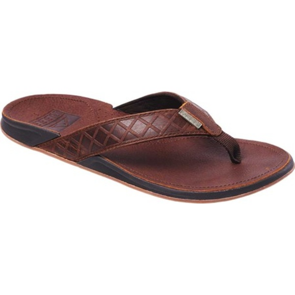 リーフ メンズ サンダル シューズ J-Bay Saltillo Waterproof Flip Flop Java Full Grain Leather