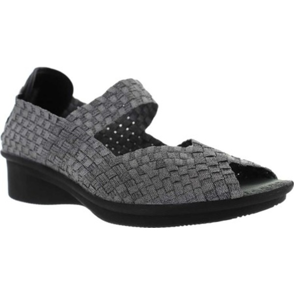 ビーニーメブ レディース サンダル シューズ Comfi Yael Peep Toe Mary Jane Pewter Handwoven Nylon