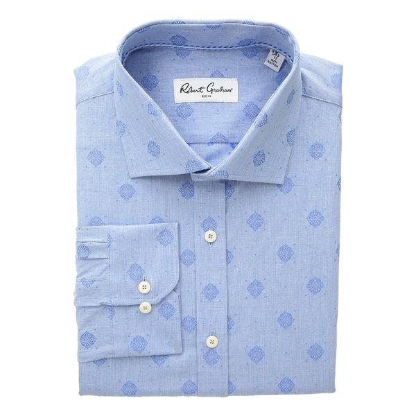 ロバートグラハム メンズ シャツ トップス Kit - Medallion Dress Shirt Blue