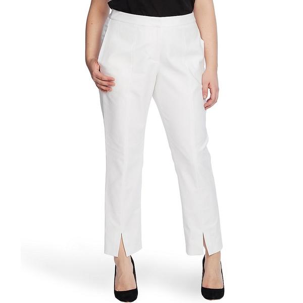 ヴィンスカムート レディース カジュアルパンツ ボトムス Plus Size Slim Leg Split Ankle Pants New Ivory