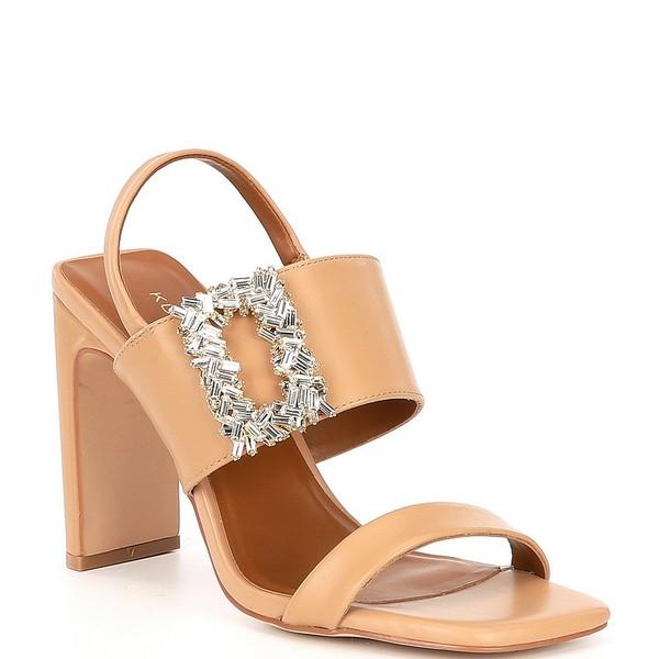 カートジェイガー レディース サンダル シューズ Pascal Square Toe Jeweled Buckle Sling Sandals Camel