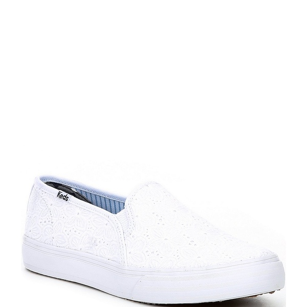 ケッズ レディース スニーカー シューズ x Draper James Double Decker Eyelet Sneakers White