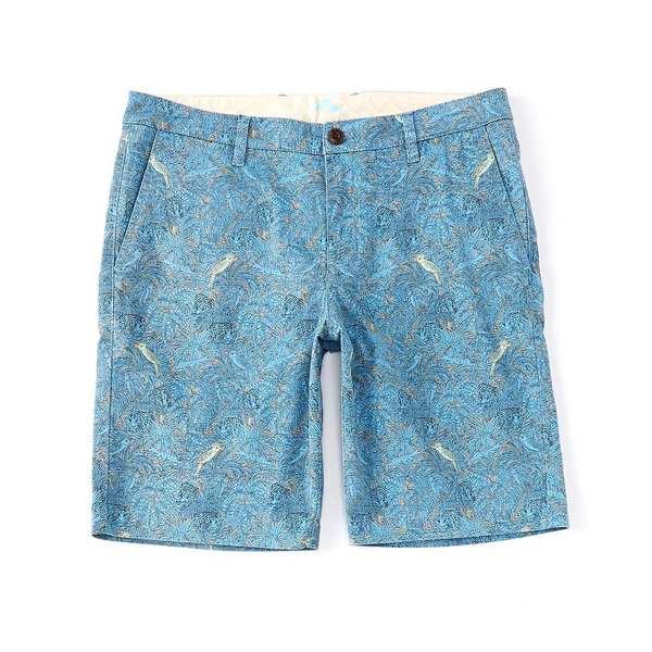 トッミーバハマ メンズ ハーフ&ショーツ ボトムス Hidden Jungle Flat-Front 10#double; Inseam Shorts Twill