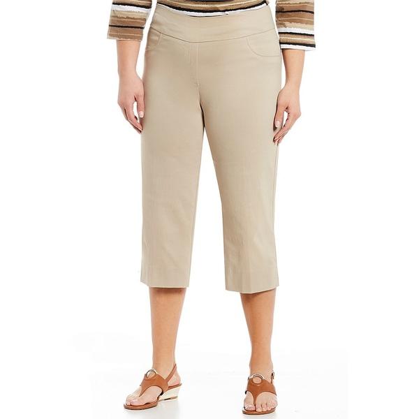 ルビーロード レディース カジュアルパンツ ボトムス Plus Size Pull-On Solar Millennium Capri Pants Chino