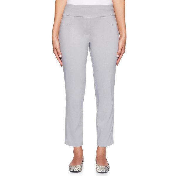 ルビーロード レディース カジュアルパンツ ボトムス Petite Size Pull-On Solar Millennium Tech Ankle Pants Dove Grey