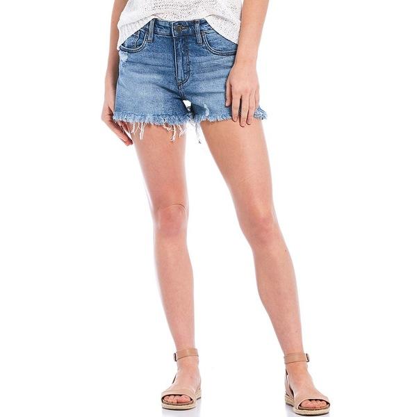 カットフロムザクロス レディース カジュアルパンツ ボトムス Jane High Rise Fray Hem Hot Shorts Instruction
