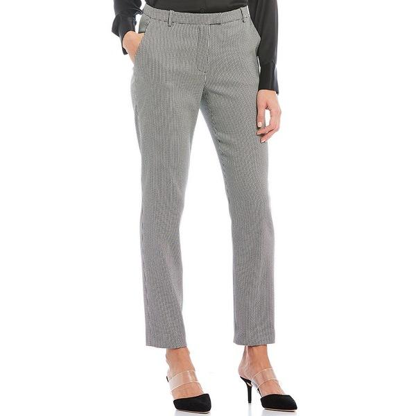 アントニオメラニー レディース カジュアルパンツ ボトムス Gilda Houndstooth Print Pocket Straight Leg Ankle Pant Black/White