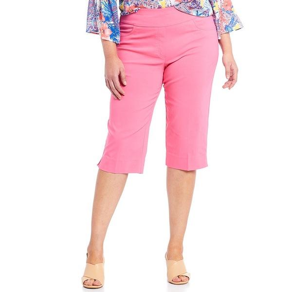 ルビーロード レディース カジュアルパンツ ボトムス Plus Size Solar Millenium Tech Pull-On Clamdigger Pant Hot Pink