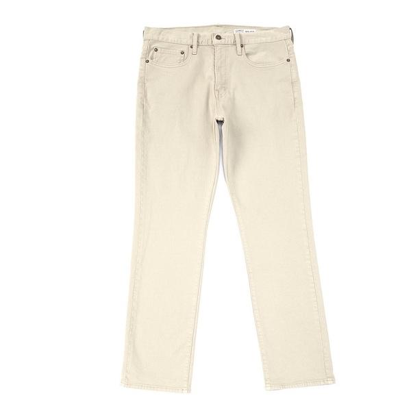 クレミュ メンズ デニムパンツ ボトムス Jeans Khaki Straight-Fit Stretch Denim Jeans Khaki