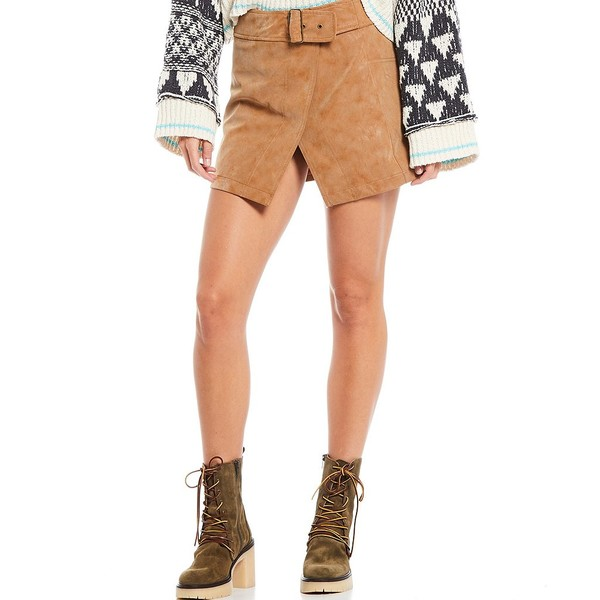 ストア フリーピープル お中元 レディース ボトムス スカート Camel 全商品無料サイズ交換 Coated Mini Ari Wrap Skirt