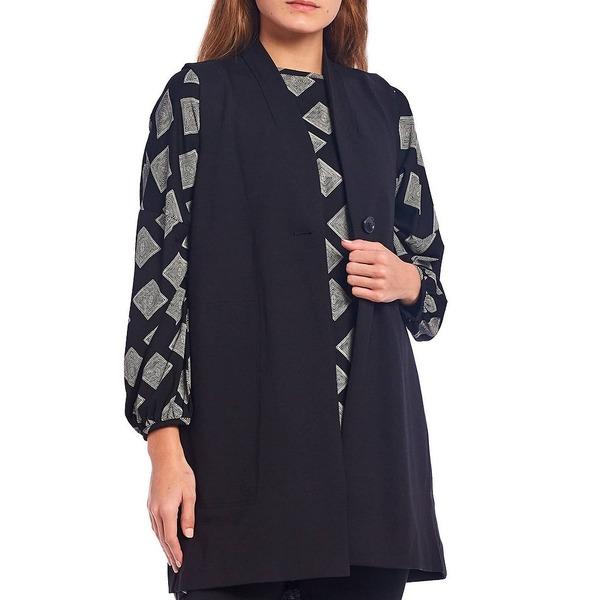 マサイ レディース アウター ジャケット 当店限定販売 ブルゾン Black 商い Jersey Jorgine Vest Button One 全商品無料サイズ交換