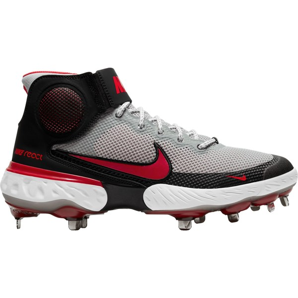 Nike メンズ スポーツ 野球 Grey Red 希望者のみラッピング無料 全商品無料サイズ交換 ナイキ Men's 販売実績No.1 3 Alpha Baseball Metal Elite Huarache Cleats Mid