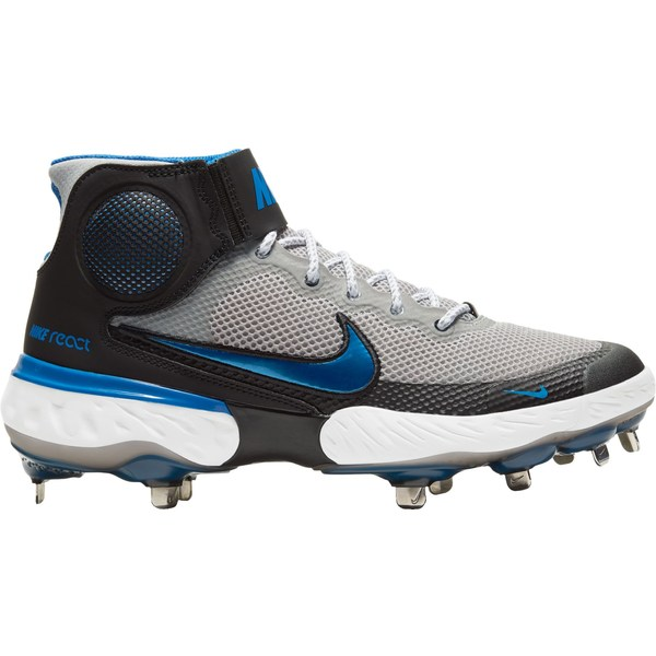 <title>Nike メンズ スポーツ 野球 Grey Royal 全商品無料サイズ交換 ナイキ Men's Alpha Huarache Elite 3 賜物 Mid Metal Baseball Cleats</title>