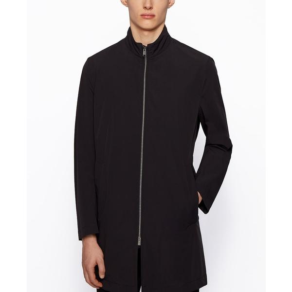 ヒューゴボス メンズ ポロシャツ トップス BOSS Men's Water-Repellent Packable Coat Black