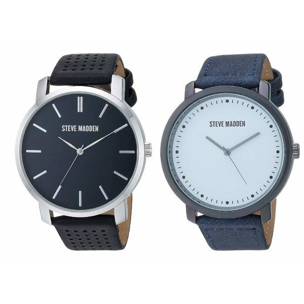 スティーブ マデン メンズ 腕時計 アクセサリー Strap Watch Set SMWS068 Black/White/Blue/Silver
