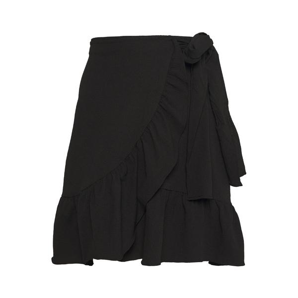 ヴェロモーダ レディース ボトムス スカート 販売実績No.1 black 全商品無料サイズ交換 VMCITA skirt BOBBLE - ハイクオリティ WRAP ofqk027c SKIRT A-line
