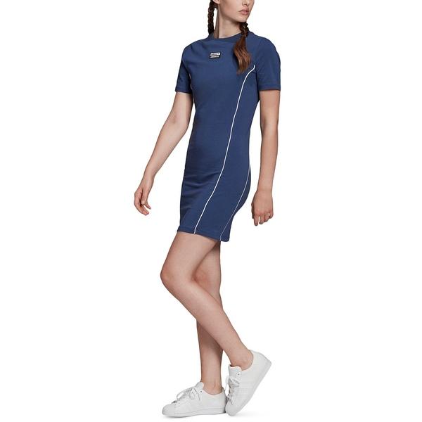 アディダス レディース [並行輸入品] トップス Tシャツ 送料無料でお届けします Blue Dress Piped 全商品無料サイズ交換 T-Shirt Women's