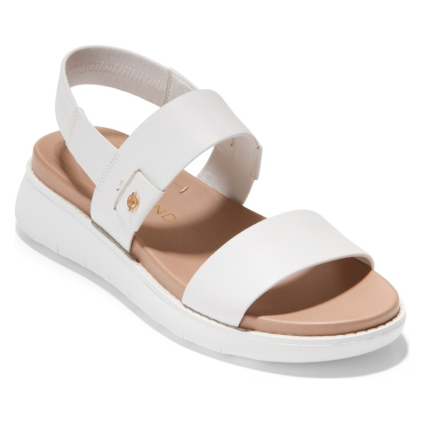 コールハーン レディース サンダル シューズ Cole Haan ZeroGrand Double Band Sandal (Women) Optic White Leather