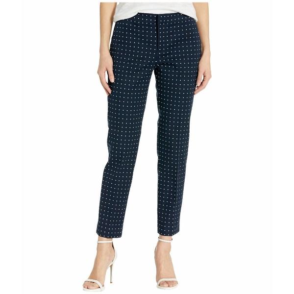 ラルフローレン レディース カジュアルパンツ ボトムス Petite Polka Dot Stretch Twill Pants Lauren Navy/Silk White
