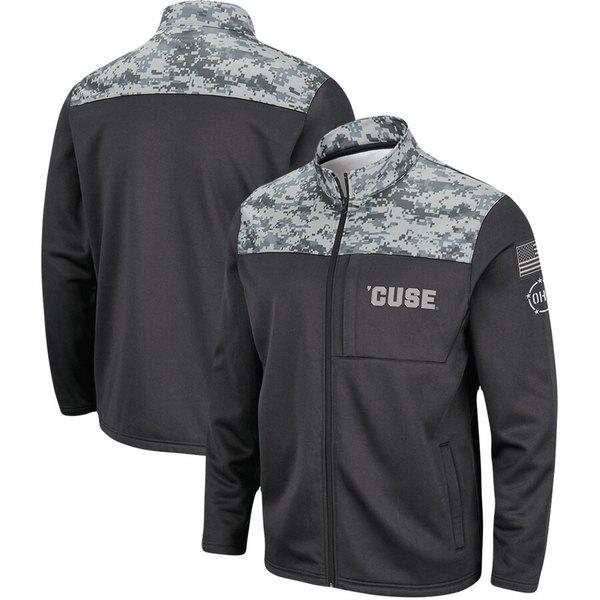 コロシアム メンズ ジャケット&ブルゾン アウター Syracuse Orange Colosseum OHT Military Appreciation Fleece Full-Zip Jacket Charcoal