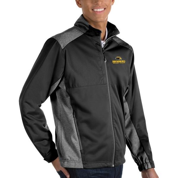 アンティグア メンズ ジャケット&ブルゾン アウター Southern Miss Golden Eagles Antigua Revolve Full-Zip Jacket Black