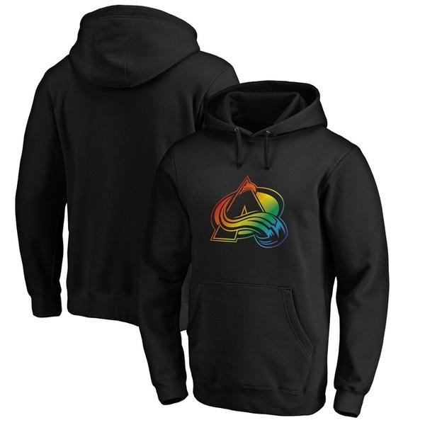 ファナティクス メンズ パーカー・スウェットシャツ アウター Colorado Avalanche Fanatics Branded Team Pride Logo Pullover Hoodie Black