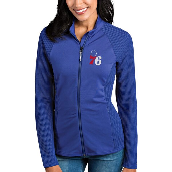 アンティグア レディース ジャケット&ブルゾン アウター Philadelphia 76ers Antigua Women's Sonar Full-Zip Jacket Royal