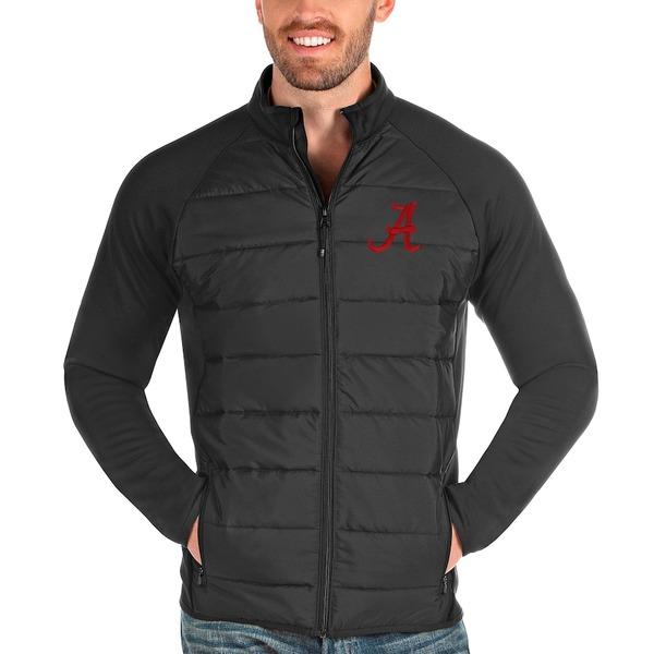 アンティグア メンズ ジャケット&ブルゾン アウター Alabama Crimson Tide Antigua Altitude Full-Zip Jacket Charcoal
