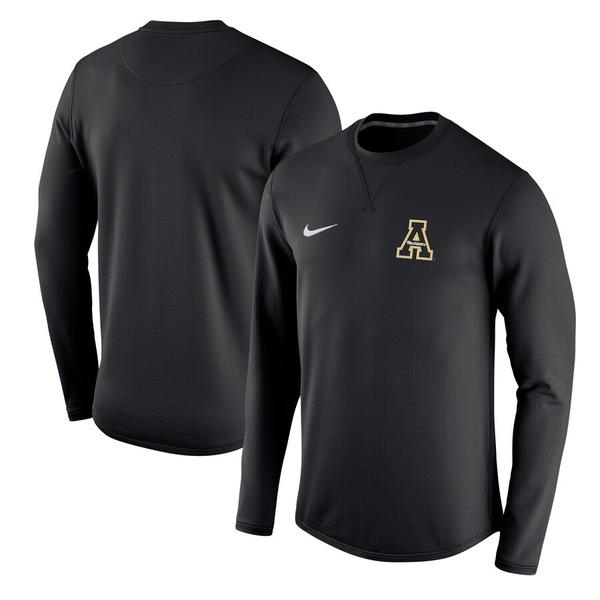 ナイキ メンズ パーカー・スウェットシャツ アウター Appalachian State Mountaineers Nike Modern Performance Crew Sweatshirt Black