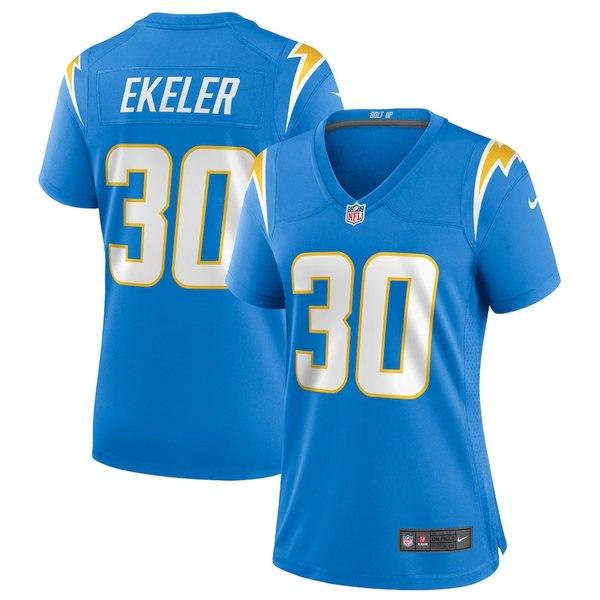 ナイキ レディース シャツ トップス Austin Ekeler Los Angeles Chargers Nike Women's Game Player Jersey Powder Blue
