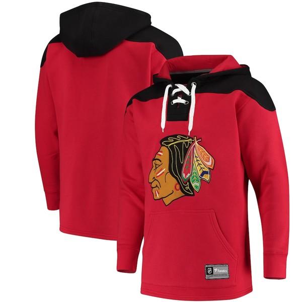 ファナティクス メンズ パーカー・スウェットシャツ アウター Chicago Blackhawks Fanatics Branded Franchise Pullover Hoodie Red