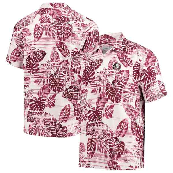 トッミーバハマ メンズ シャツ トップス Florida State Seminoles Tommy Bahama Super Fan Camp Shirt Garnet
