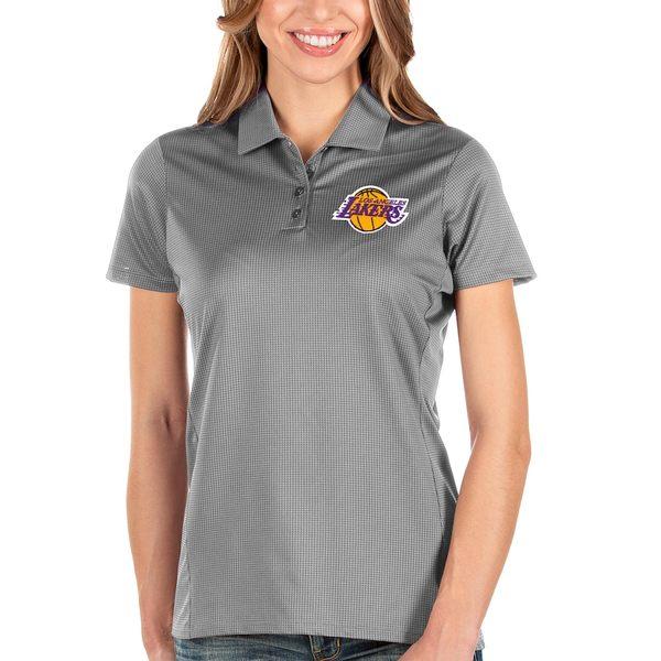 アンティグア レディース ポロシャツ トップス Los Angeles Lakers Antigua Women's Balance Polo Charcoal