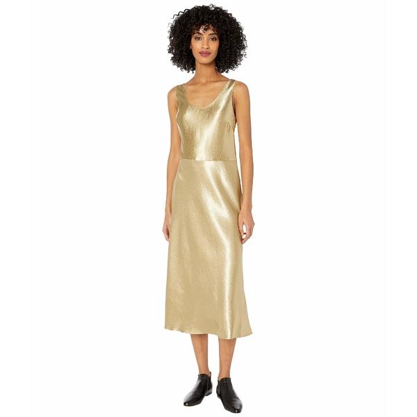 ヴィンス レディース ワンピース トップス Metallic Tank Dress Pale Gold