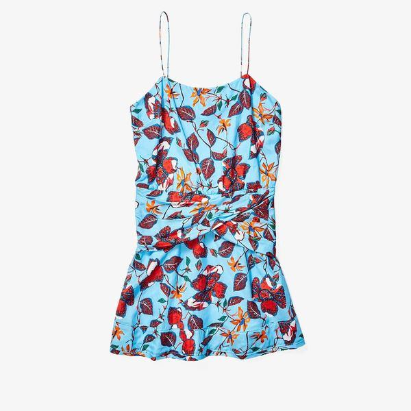 デレクラムテンクロスバイ レディース ワンピース トップス Cami Flounce Mini Dress w/ Twist Waist Detail Blue