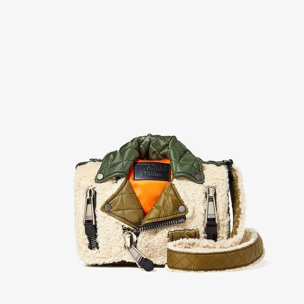 モスキーノ レディース ハンドバッグ バッグ Flight Jacket Crossbody Ivory Multi