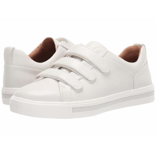 クラークス レディース スニーカー シューズ Un Maui Strap White Leather