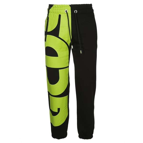 ジーシーディーエス メンズ カジュアルパンツ ボトムス GCDS Logo Print Track Pants Blackgreen
