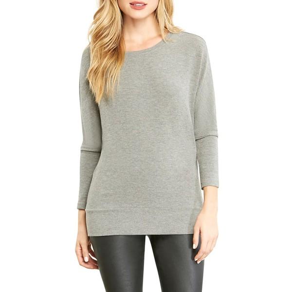 カップケーキアンドカシミア レディース シャツ トップス Ivery Emily's Favorite Sweatshirt Heather Grey