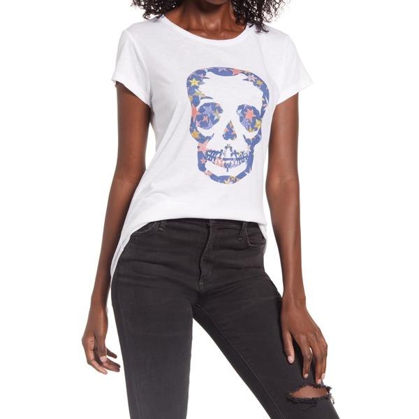 ザディグ エ ヴォルテール レディース Tシャツ トップス Skull Graphic Tee Blanc